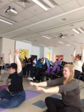 Stretching & moving during yoga