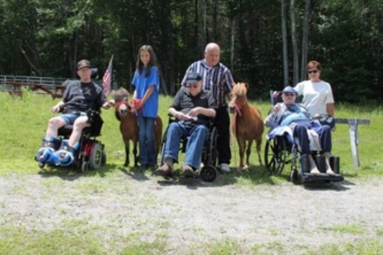 Veterans group with miniature horses