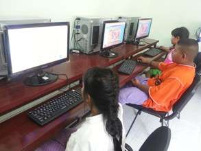 Students Using the Computers