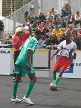 Alex of Kenya against Ngeria's S. Asanjo of Nigeria in the Homel