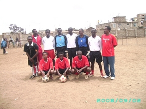 The current Kenya Homeless World Cup national team