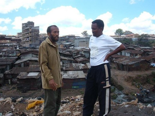 Mohamed and Calvin in Mathare slums.