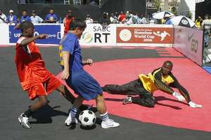 Pitch Action from Kenya in S. Africa.