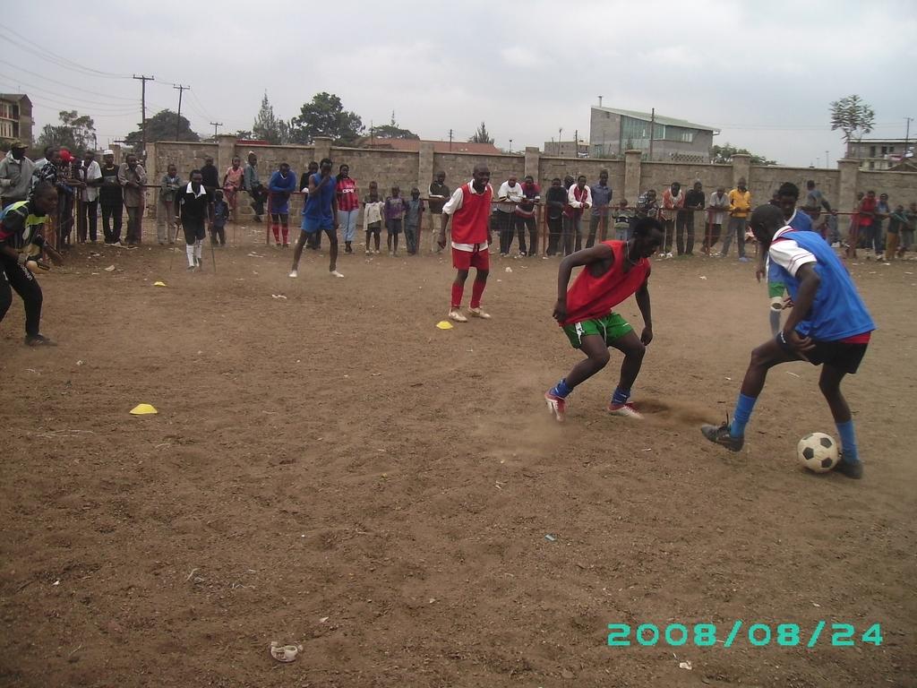 Kenya Homeless World Cup training fr Melbourne 2008