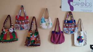 Purses made by Dona Lucy, Norma, and Patty