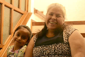 Dona Lucy and her granddaughter Daniela