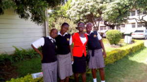 Student leaders Hillary, Leila, & Linah at EAGLS
