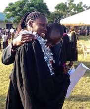 Rose at graduation