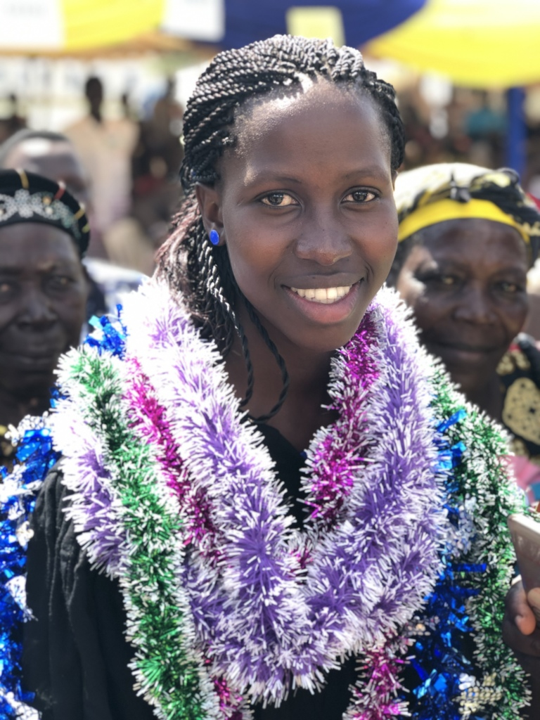 Linah at her WISER graduation ceremony this year