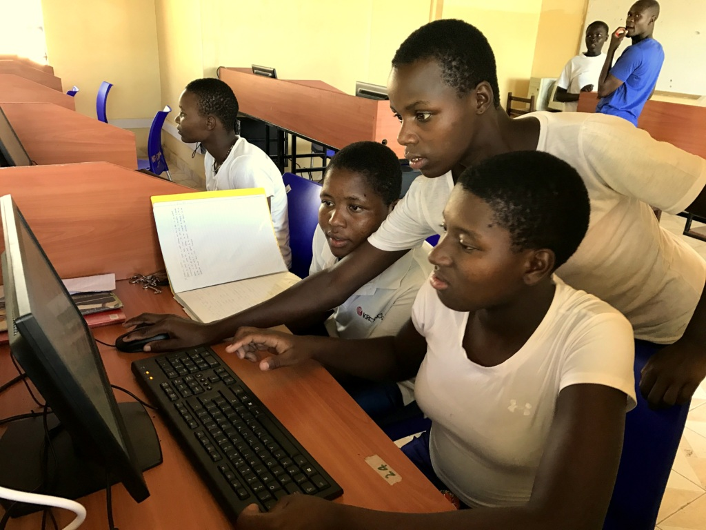 WISER Girls at work in the new Computer Lab