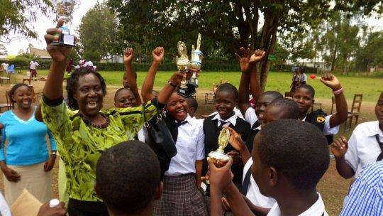 Principal Dorcas celebrates WISER's STEM Fair win