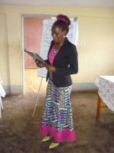 Participant presenting her business proposal