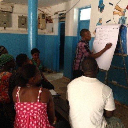Community team providing workshops
