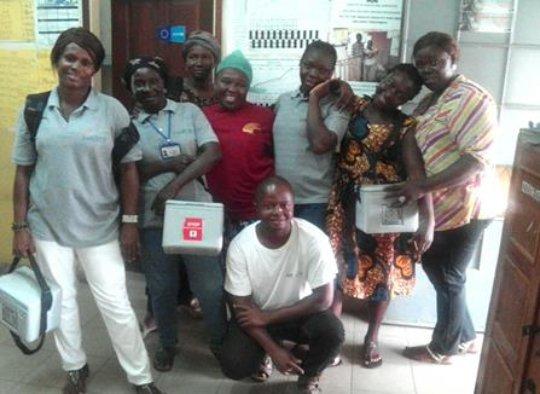 Welbodi Partnership facilitators with MoHS staff