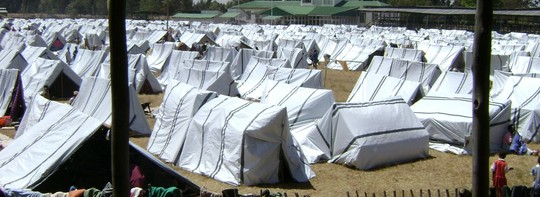 GEMINI photo-- Tents in the displaced persons camp