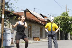 making changes through street theater
