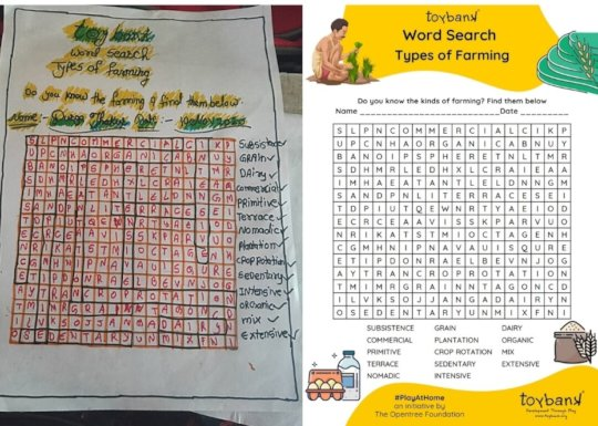 Divya facing her challenges through Word Search!