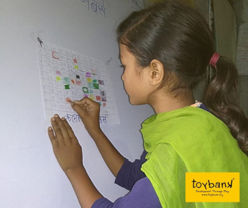 Building basic skills of numbers and colors