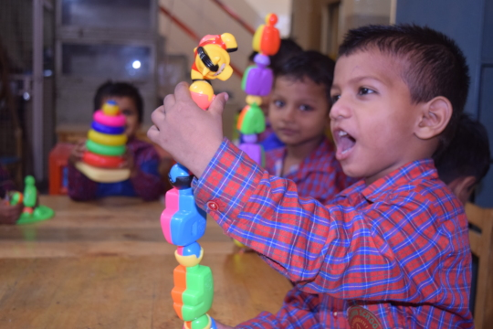 'I made it!' A child at our center is all excited!