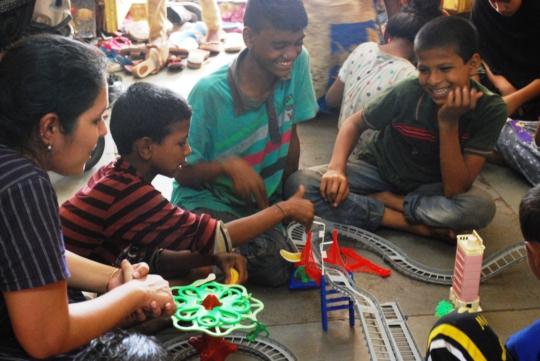 Building train tracks!