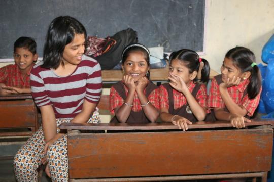 Happy kids make happy volunteers