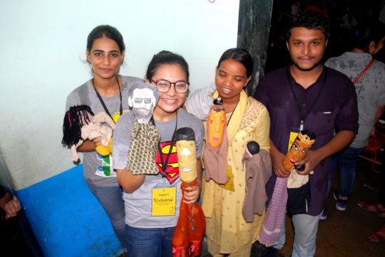 Our team organised a Puppet Show for our kids