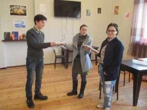 Winners receiving their certificates!