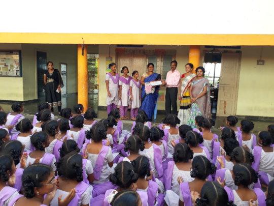 Felicitation of Headmistress