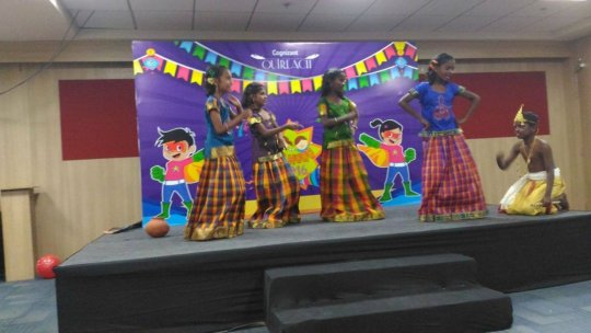 Girls giving dance performances