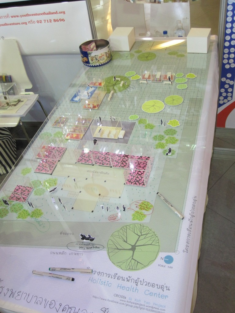 Interactive architectural model for health center