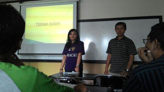 Paridi during his presentation