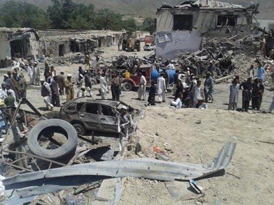 Suicide bombing destruction