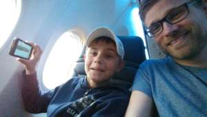 Mentor and mentee in the airplane to Milano