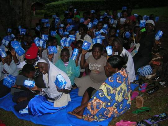 Buy reusable sanitary pads for 50 girls in Uganda