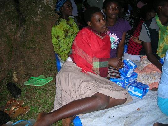 Buy reusable sanitary pads for 50 girls in Uganda