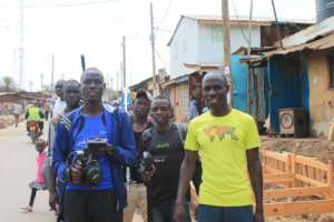 Rising Stars Athletes Filming in Kibera