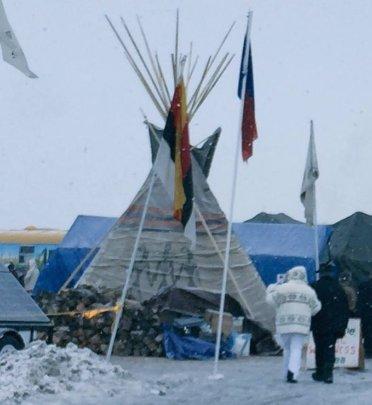 Jane at Standing Rock in December 2016