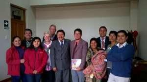 President of Foudation Vilcabamba visiting Mayor