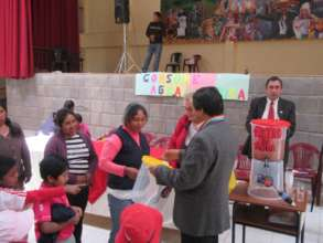 Mayor handed over water filter to mother