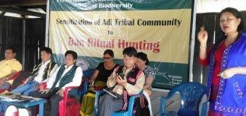 Sensitizing the Adi Tribe