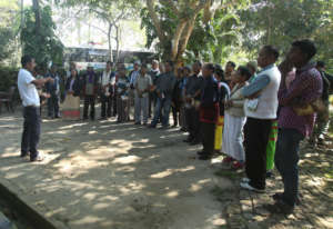 Talking about the wildlife in Kaziranga