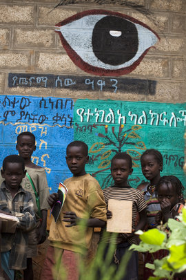 Eye clubs use the murals to educate the students