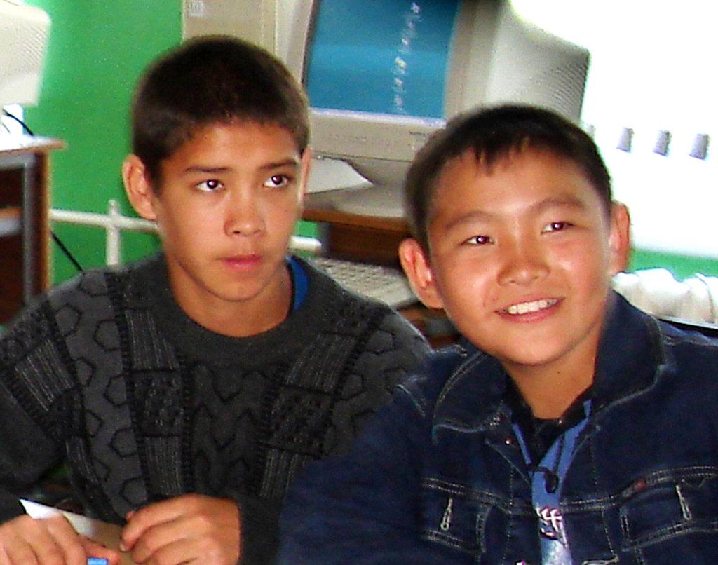 Altai schoolchildren