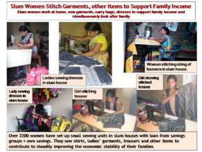 Slum Women Sew at home to Support Family Income
