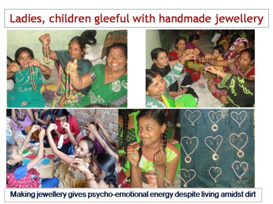 Making jewellery gives psycho-emotional energy