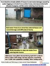 Raised slumhouse plinth prevents damage by rains