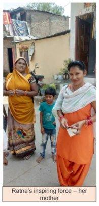 Ratna's inspiring force - her mother