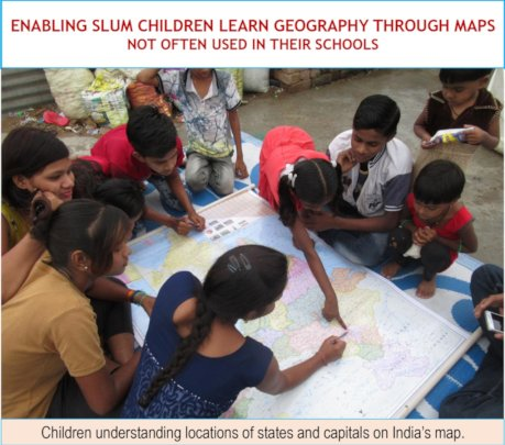 Children understanding locations on India's map
