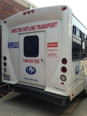 Shelter Hotline homeless pick up vehicle