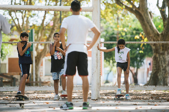 Youngsters challenge poverty through skateboarding